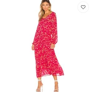 Free People Red Floral Wallflower Midi Dress